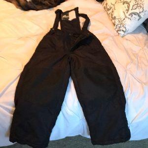 Black bib snow overalls